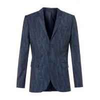 Buy cheap Blue Wool Blend Abstract Print Skinny Fit Suit Jacket product