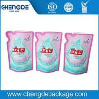 Cheap stand up shape bag for 500g liquid detergent packing wholesale