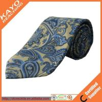 Buy cheap fashion blue color printed paisley tie product