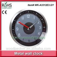 China Woodpecker silent sweep wall clock promotional metal clock wholesale wall clock on sale