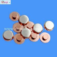 Buy cheap Precision stamping parts high anti-welding silver alloy contacts for household appliance product
