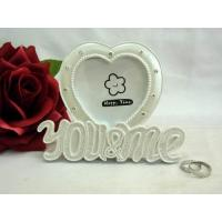 Buy cheap white heart shape photo frame Valentine's Day product