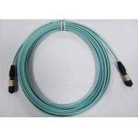 Buy cheap 24core OM3 OM4 MTP Fiber Patch Cord , MPO Trunk Cable Female Connector from wholesalers