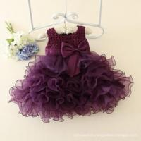 China New design girls party dresses mini summer 1 year baby girl dresses images violet ball gown on sale