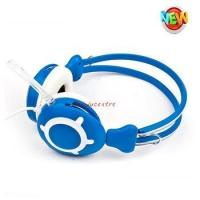 Buy cheap promotion wired communication headphones mobile folded customized logo stereo computer headset product