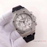 Buy cheap Clone Swiss 7750 Audemars Piguet Royal Oak Stainless Steel White Chronograph Fashion Watch product