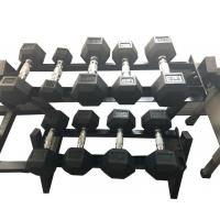 Buy cheap High Quality Wholesale Rubber Hex Dumbbell product