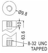 Buy cheap PCB Support Round Tapped Nylon Spacer product