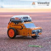 Outdoor self assembly graphical programming educational WeeeBot toy by remote