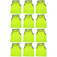 12 Team Yellow Scrimmage Vests Pinnies Soccer