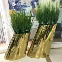 Gold Stainless Steel Bucket Flower Planters