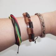 Buy cheap Handmade Genuine Leather Bracelets, Multilayer Leather Adjustable Wristband from wholesalers