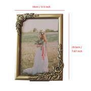 Buy cheap Metal Emboss Rose Adorned Picture Frame 5x7 inch, Classic Floral Vintage Sturdy Alloy Photo Frames from wholesalers