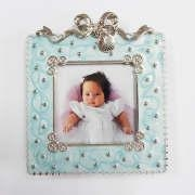 Buy cheap Pink Cream Enamel Metal Baby Photo Frames Wholesale, Custom Make Silver Metal Baby Picture Frames product