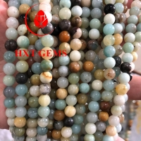 Buy cheap Amazonite Multicolor AA 8mm Round Beads from wholesalers