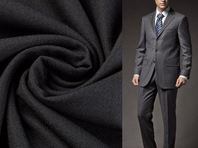 China 100% polyester wave gird four way stretch men's suit fabric