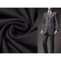 Buy cheap 100% polyester wave gird four way stretch men's suit fabric from wholesalers