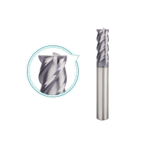 Buy cheap Four fluted end mill carbide for high hardened steel HRC45-55 finishing milling from wholesalers