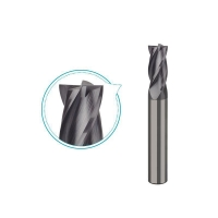 Buy cheap Carbide end mill for steel up to HRC45 milling, 4 flutes coated milling tools -PS214 product
