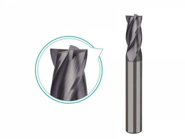China Carbide end mill for steel up to HRC45 milling, 4 flutes coated milling tools -PS214