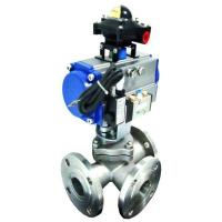 Buy cheap Pneumatic 3-way ball valve from wholesalers