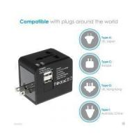 Buy cheap World Travel Adapter Converter With 2.1A Dual USB Charger AU/UK/US/EU Plug from wholesalers