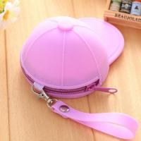 Buy cheap Hot-sale mini silicone coin purse Wholesale candy color portable baseball cap purse product