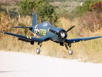 China FlightLine F4U-1D Corsair Bubble Top 1600mm Wingspan - PNP RC Airplane