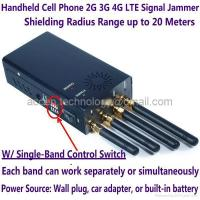 Buy cheap New 4 Antenna Handheld Mobile Phone 2G 3G 4G LTE Signal Jammer W/ Single Control from wholesalers