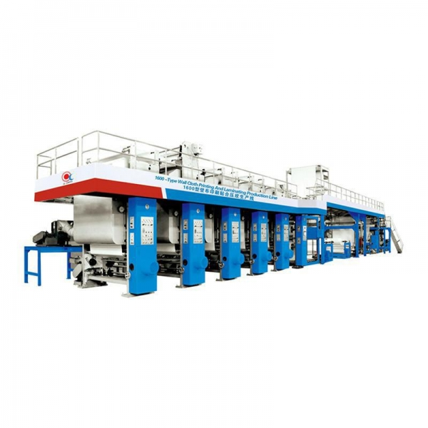 China Production Line for Wall Cloth Vinyl Film Backed